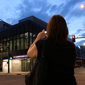 a photo of Jody Grant taking a photo of venue